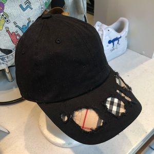 a022f46f94815 ... Authentic Repurposed BB Fabric Custom Black Hat 100% ...